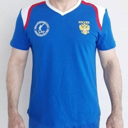 futbolka trikolir siniy grud